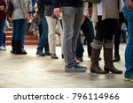 crowd of unrecognizable people... | Shutterstock . vector #796114966