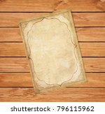old grungy papyrus with curly... | Shutterstock .eps vector #796115962