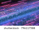 3d illustration. colored panel... | Shutterstock . vector #796117588