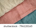 wrinkled linen cloth folded... | Shutterstock . vector #796120165