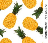 seamless vector pattern with... | Shutterstock .eps vector #796123372