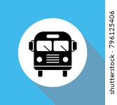 bus front vector icon for... | Shutterstock .eps vector #796125406