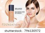 foundation makeup ads  pretty... | Shutterstock .eps vector #796130572