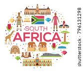 country south africa travel...   Shutterstock .eps vector #796131298