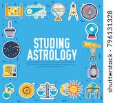 astrology house icons design... | Shutterstock .eps vector #796131328