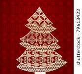 Open Lacy Christmas Tree  Each...