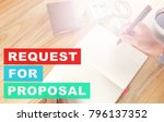 request for proposal concept. | Shutterstock . vector #796137352
