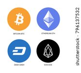 crypto currency icon | Shutterstock .eps vector #796137532