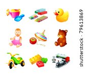 colorful children toy  tool and ... | Shutterstock .eps vector #79613869