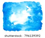 abstract blue watercolor... | Shutterstock . vector #796139392