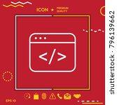 code editor icon | Shutterstock .eps vector #796139662