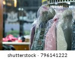 laundry in the dry cleaner. | Shutterstock . vector #796141222