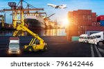 logistics and transportation of ... | Shutterstock . vector #796142446