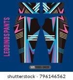 leggings pants fashion vector... | Shutterstock .eps vector #796146562