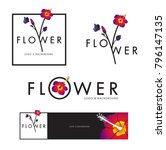 flower vector logo background | Shutterstock .eps vector #796147135