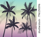 palm trees background | Shutterstock .eps vector #796150396
