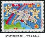 canada   circa 2000  stamp... | Shutterstock . vector #79615318