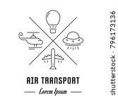 vector logo air transport.... | Shutterstock .eps vector #796173136