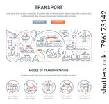 line illustration of transport. ... | Shutterstock .eps vector #796173142