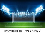 football arena field with... | Shutterstock .eps vector #796175482