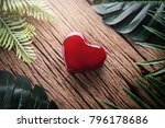 Red Heart Shape Object With...