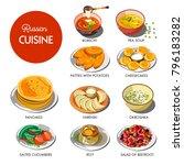 russian cuisine traditional... | Shutterstock .eps vector #796183282