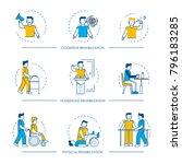 rehabilitation vector human man ... | Shutterstock .eps vector #796183285