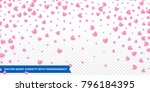 hearts confetti pattern on... | Shutterstock .eps vector #796184395
