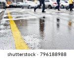 asphalt winter road   Shutterstock . vector #796188988