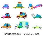 cartoon car vector comic