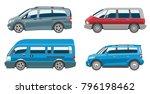 minivan car vector van auto... | Shutterstock .eps vector #796198462