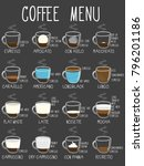 coffee types. recipes ... | Shutterstock .eps vector #796201186