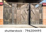 beautiful forged metal gates | Shutterstock . vector #796204495