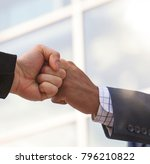 close up of two businessmen... | Shutterstock . vector #796210822