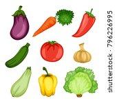 cartoon illustration set of... | Shutterstock .eps vector #796226995