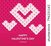 valentine's day greeting card... | Shutterstock .eps vector #796231162