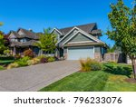 big custom made luxury house... | Shutterstock . vector #796233076