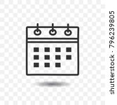 calendar icon with shadow on...   Shutterstock .eps vector #796239805