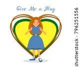 national hug day background...   Shutterstock .eps vector #796251556
