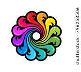 rainbow ocean logo template | Shutterstock .eps vector #796253506