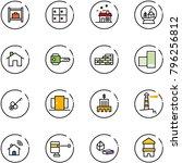line vector icon set   baggage... | Shutterstock .eps vector #796256812