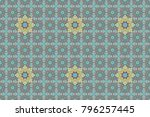 for print on fabric  textiles ... | Shutterstock . vector #796257445