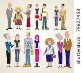 vector illustration of set... | Shutterstock .eps vector #79627453