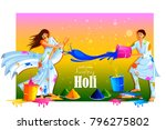 vector illustration of india... | Shutterstock .eps vector #796275802