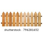 brown wooden fence isolated on... | Shutterstock . vector #796281652