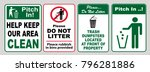 clean sticker sign for office... | Shutterstock .eps vector #796281886