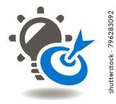 target bulb icon vector. goal...   Shutterstock .eps vector #796283092