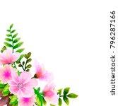 bouquet watercolor  flower... | Shutterstock .eps vector #796287166