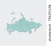 russia map   high detailed... | Shutterstock .eps vector #796291138