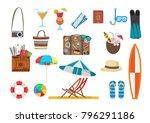 vector illustration. set of... | Shutterstock .eps vector #796291186